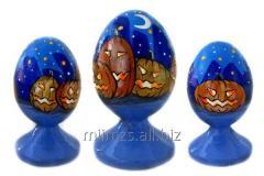 El huevo Halloween R de madera - 83