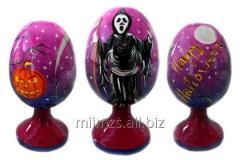 El huevo Halloween R de madera - 85