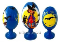 El huevo Halloween R de madera - 86