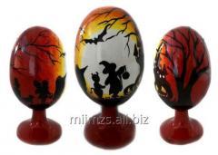 El huevo Halloween R de madera - 87
