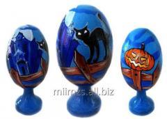 El huevo Halloween R de madera - 91