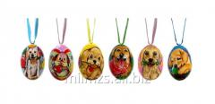El huevo Set Animals S de madera - 12