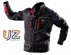 Steeluz jacket dark gray with red finishing