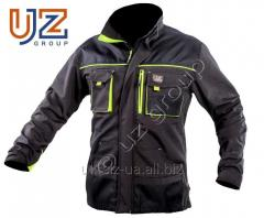 Steeluz jacket dark gray with lime finishing