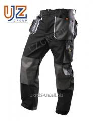 Steeluz trousers dark gray with gray finishing