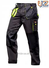 Steeluz trousers dark gray with lime finishing