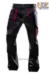 Steeluz trousers dark gray with red finishing