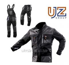 Suit Trousers + a Steeluz Jacket dark gray with gray finishing