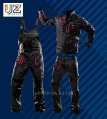 Suit Polukombinezon + a Steeluz Jacket dark gray with red finishing