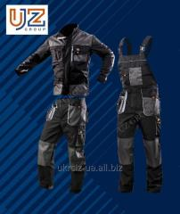Suit Polukombinezon + the Jacket dark gray with gray finishing