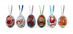 El huevo Set Christmas S de madera - 2