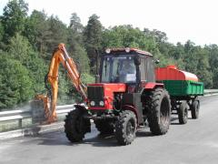 Equipment for washing of road situation