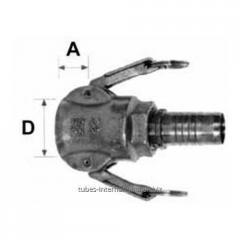 Соединения с фитингом к шлангу для опрессовки втулкой