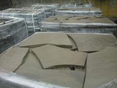 Плитняк песчаник серо-зеленого и желтого цвета