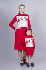 Платье женское с принтом-аппликацией