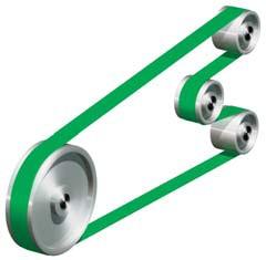 Driving flat Habasit belts