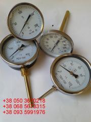 The thermometer the bimetallic showing TBU-63,
