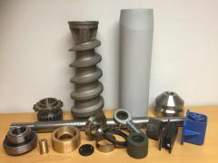 Spare parts for extruders of hollow plates of