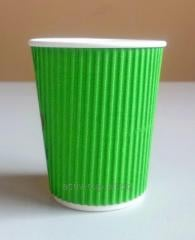 Corrugated paper glasses of 250 ml