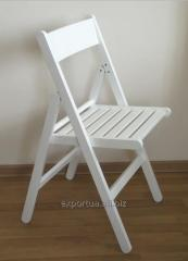 Chaises pliantes blanc