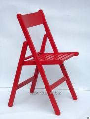 Chaises pliantes rouge