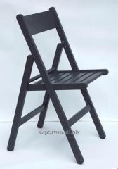 Chaise pliante en bois noir