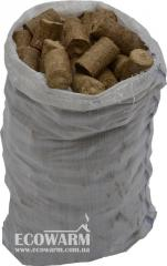 Fuel briquettes from Nestro STRAW in bags on 40 kg