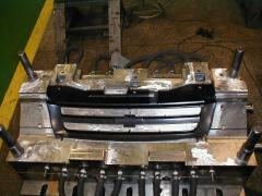 Compression molds of facing, dashboard, bumper,