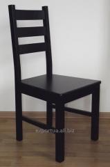 Drewniane krzesło klasycznej czerni Rihter