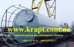 Водонапорная башня ВБР-25 емкость для воды с ограждением