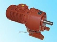 Reduction motor worm-cylinder two-step