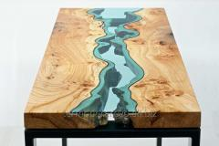 Wooden table river, production of wooden furniture