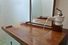 Overhead washbasins