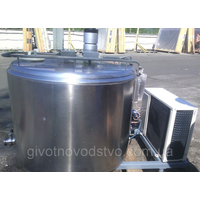 The tank for cooling of second-hand milk of 730 l.