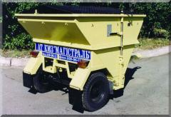 Distributor of deicing materials. Means of