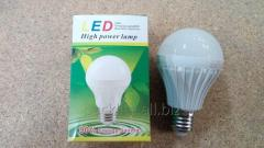 Лампа светодиодная 4W, E27, 6000K, d64mm, 170-265V