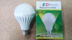 Лампа светодиодная 6W, E27, 6000K, d80mm, 170-265V