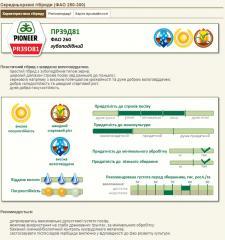 Nas_nnya of kukurudza P_ONER of PR39D81/PIONER