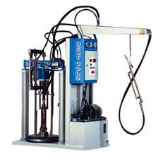 Two-component hydraulic extruder