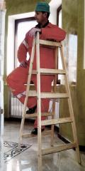 Step-ladder of wooden 5 steps (bilateral). Quality