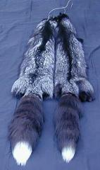 Fur of the silver fox, polar fox, mink, marten,