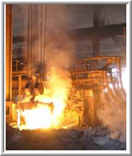 Arc steel-smelting electric furnaces of