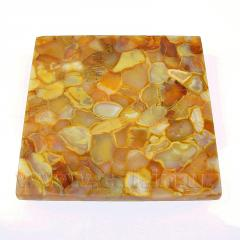 Tile from amber