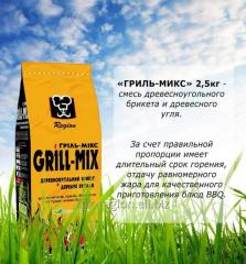 Grill mix: mix of a charcoal briquette and