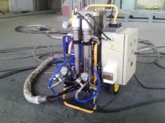 Equipment. Installation for molding of PPU of