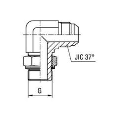 Соединитель угловой 90° регулируемый WE BG SAE