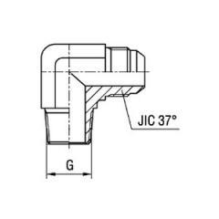 Соединитель угловой 90° WE BT SAE J514