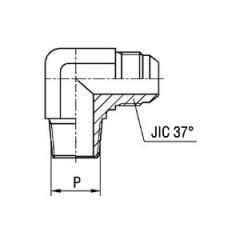 Соединитель угловой 90° WE NT SAE J514