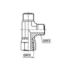 Адаптер тройник L с внутр. резьбой/ наруж.резьбой ORFS EVL SAE J1453 ORFS
