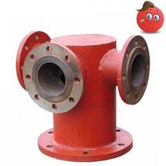 Support under a hydrant troynikovy flange DU200